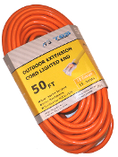 12 Gauge 50 Ft. SJTW Orange Cord