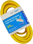 10 Gauge 25 Ft. Triple Tap SJTW Yellow Cord