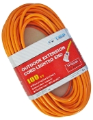 14 Gauge 100 Ft. SJTW Orange Cord